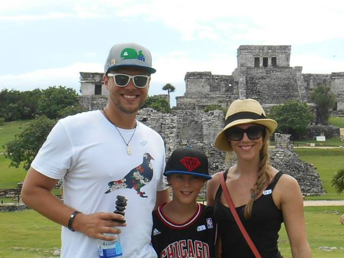 My family and I visiting Tulum