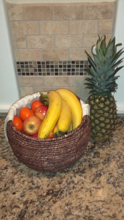 Big basket full of fruit!  Yum!