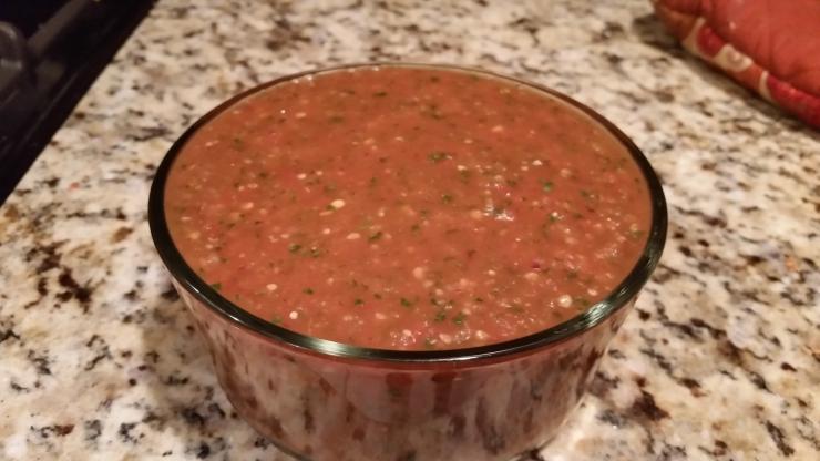 Roasted Tomato and Tomatillo Salaa