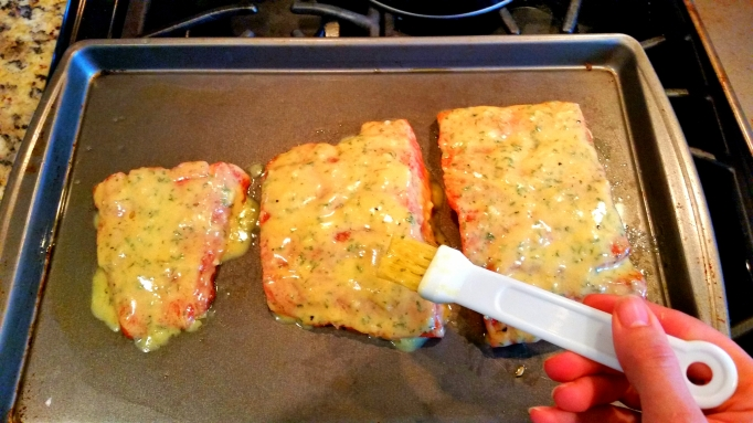 Baked Garlic Dijon Salmon
