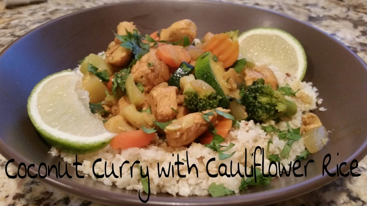 Coconut Curry with Cauliflower Rice