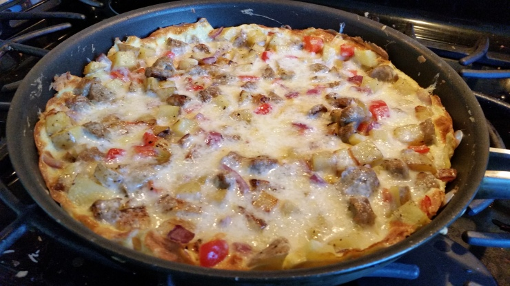 Red pepper and Sausage Fritatta
