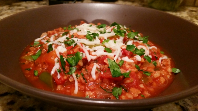Stuffed Pepper Stew (Gluten Free)