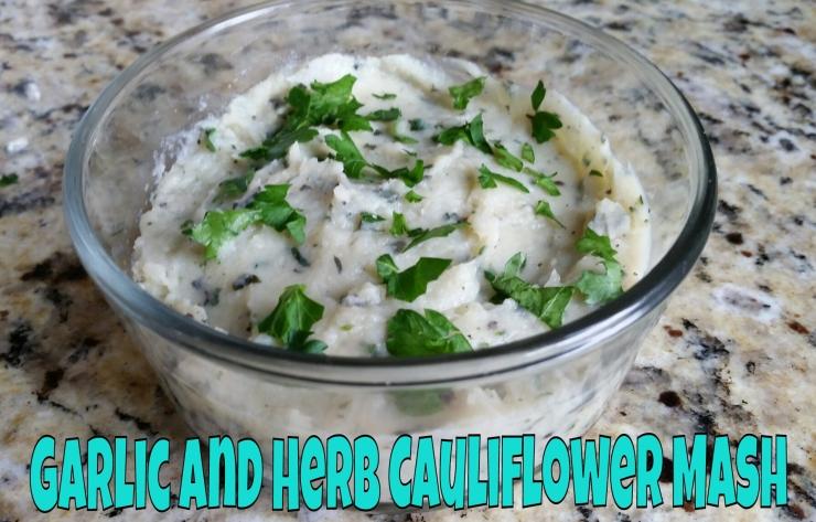 Garlic and Herb Cauliflower Mash   www.eatmovelivelove.com