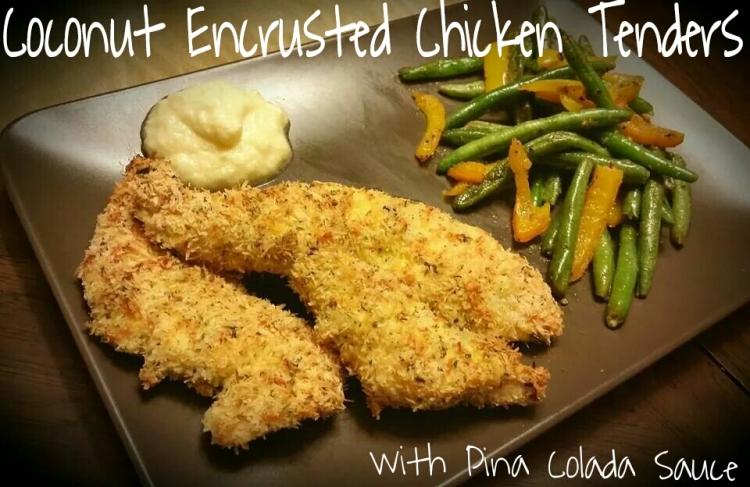 Coconut Encrusted Chicken Tenders   www.eatmovelivelove.com