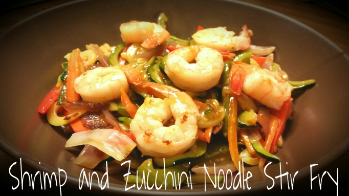 Shrimp and Zucchini Noodle Stir Fry  www.eatmovelivelove.com