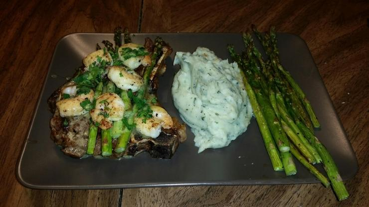 the Garlic and Herb Cauliflower Mash went perfectly with our Valentine's Dinner!